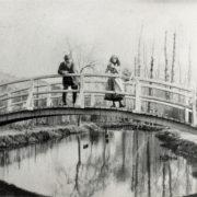 Vue du bassin aux nymphéas dans sa première forme 1895 - coll. Philippe Piguet